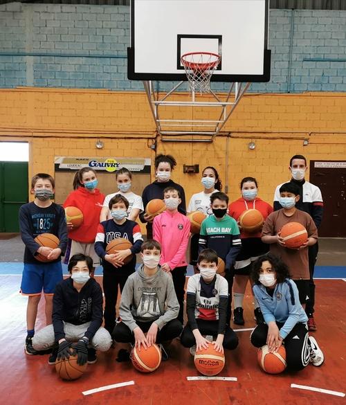 La section basket au collège